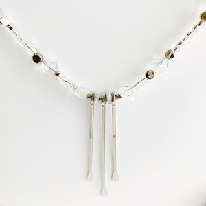 Upcycled Triple Silver Paddle Necklace